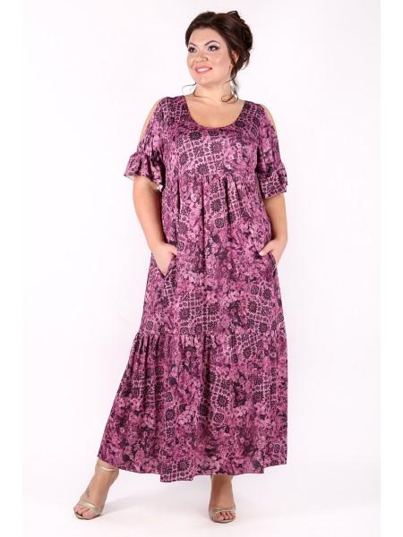 Платье Лилия (темная брусника)