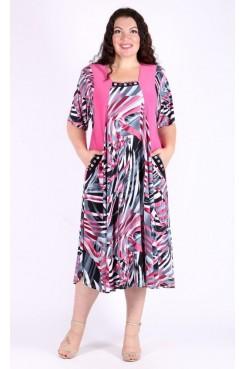 Платье Мелодия (розовый)