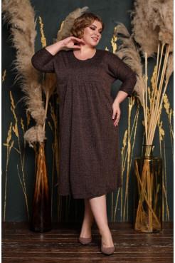 Платье Надежда (коричневый)