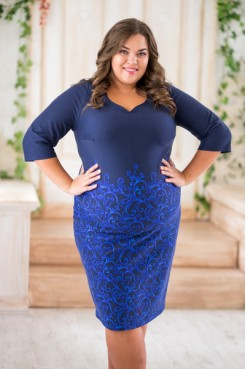 Платье 061-26 синий