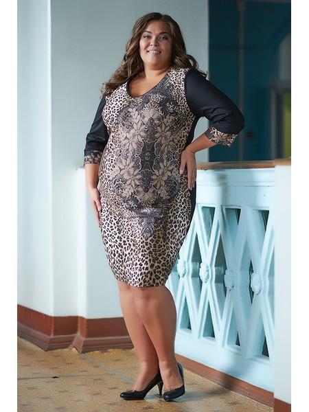 Платье 070-14 леопард