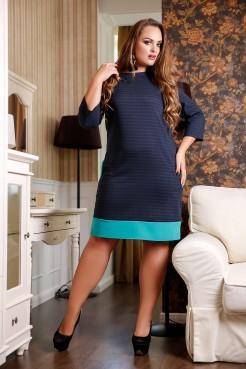 Платье Сидней А1 (клетка синий)