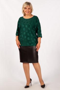Блузка Дейзи (темно/зеленый)