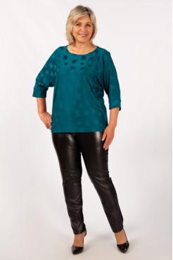 Блузка Дейзи (темно/бирюзовый)