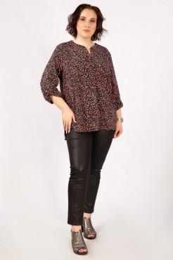 Блузка Келли (черный/розовый)