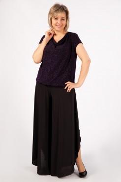 Блузка Сильвер (черный/фиолетовый)