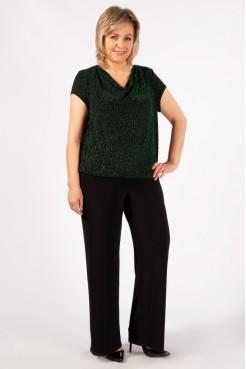 Блузка Сильвер (черный/зеленый)