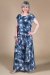 Платье Дженни (цветы-серый)