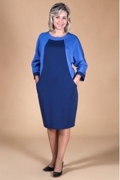 Платье Камелия (темно-синий)