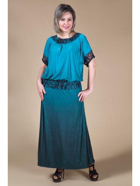 Платье Регина (бирюза)