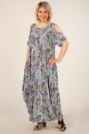 Платье Алиса (цветы на голубом)