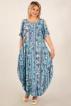 Платье Алиса (голубой/цветы)