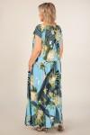 Платье Анджелина-2 (цветы на голубом)