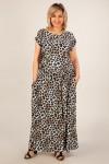 Платье Анджелина-2 (леопард голубой)