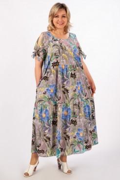 Платье Анфиса (серо-голубой)
