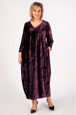 Платье Дорети (баклажан)