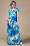 Платье Джоанна (леопард-кружево бирюза)