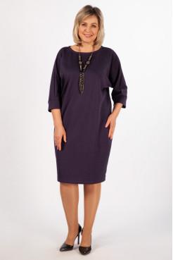 Платье Эдит (баклажан)