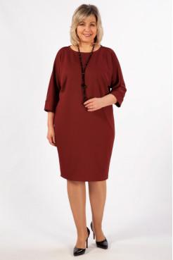 Платье Эдит (бордовый)