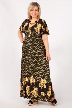 Платье Клеопатра (желтый/черный)