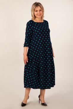 Платье Мария (горох бирюзовый)