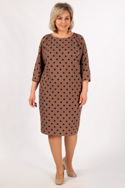 Платье Наоми (бежевый/синий)