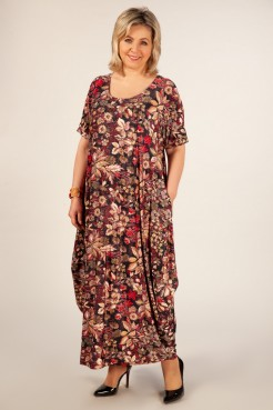 Платье Вероника (цветы красные)