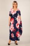 Платье Вероника-2 (цветы розовые)
