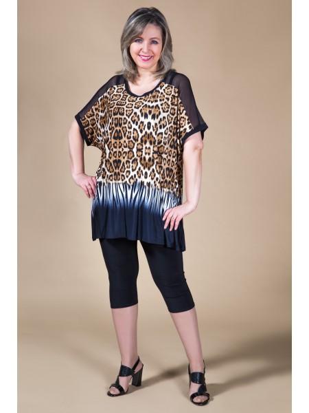 Туника Лана (леопард коричневый)