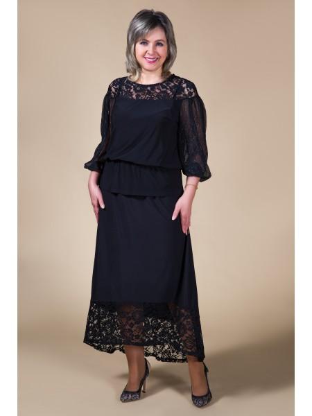 Блузка Кармен (черный)