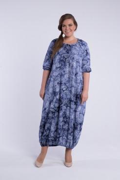 Платье Балон 1741 (узор синий 571)
