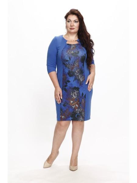 Платье Кармелита (синий купон)