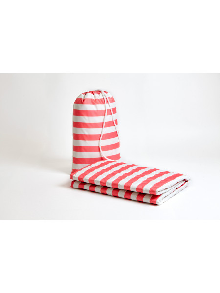 Покрывало пляжное mini (Красные полоски 11299)
