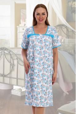 Сорочка Каре (голубой)